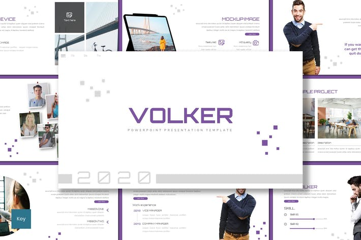 Thumbnail for Volker - Business Keynote Template