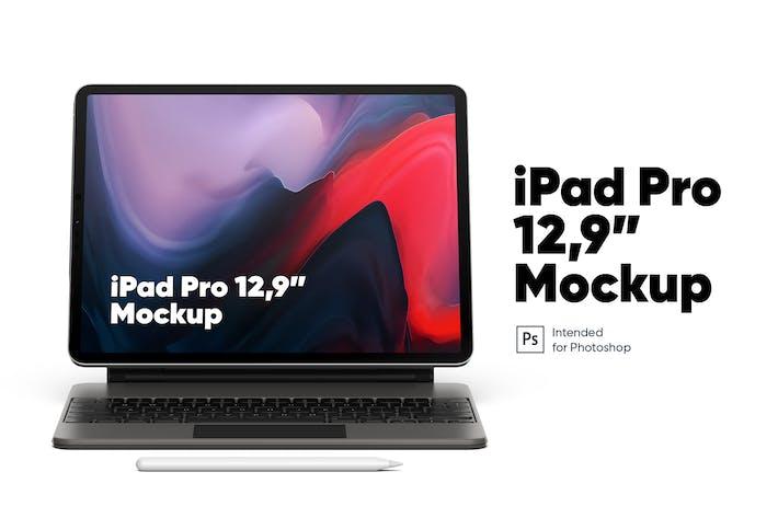 "Thumbnail for iPad Pro 12,9"" with Keyboard Mockup"
