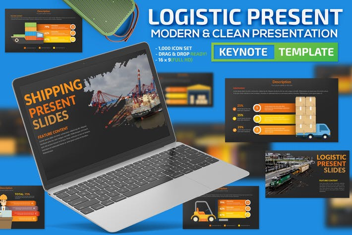 Cover Image For Logistic Keynote Template