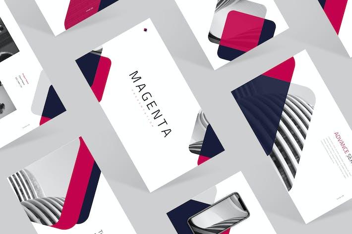 Thumbnail for Magenta Google Slides