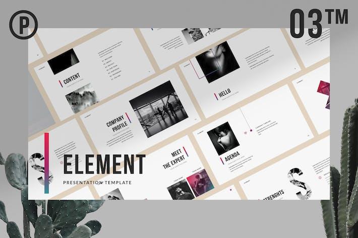 Element Brand Sheet Keynote Business Presentation