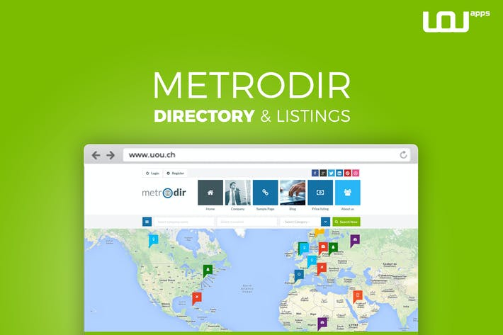 Thumbnail for Metrodir - Directory & Listings HTML Template