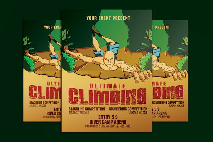 Thumbnail for Climbing Sport Activity Poster Flyer