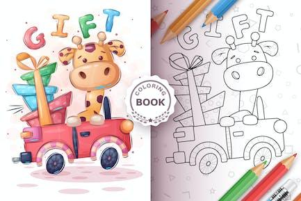 Giraffe Travel - Game For Kids, Coloring Book