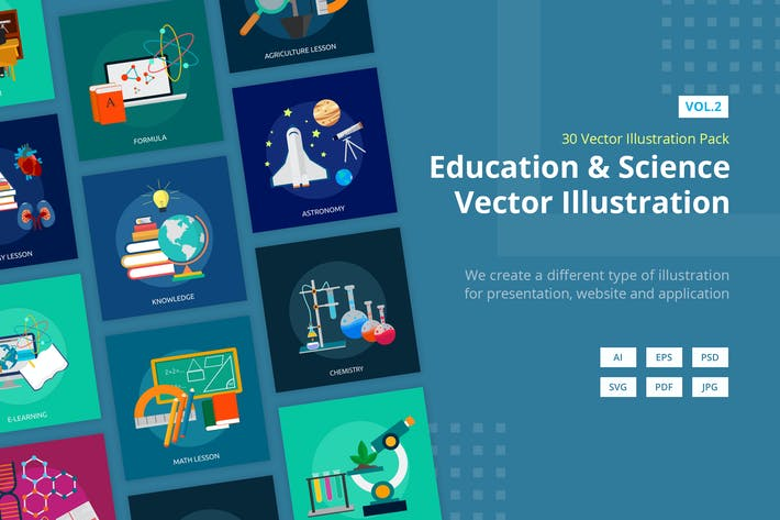 Thumbnail for Education and Science Vector Illustration Vol.2
