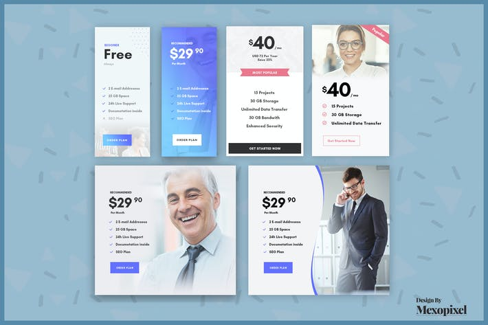 Thumbnail for Business Pricing Table PSD Template