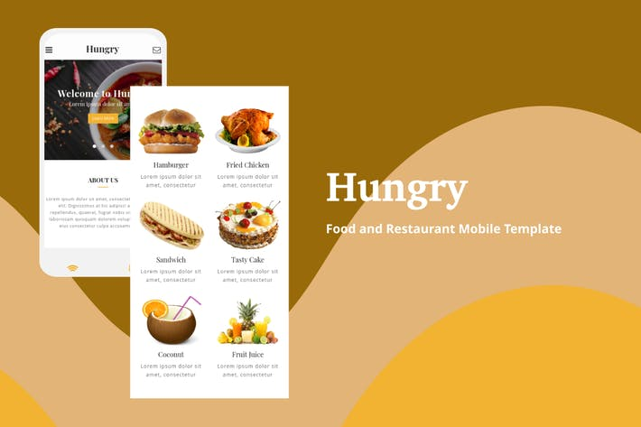 Thumbnail for Hungry - Food and Restaurant Mobile Template