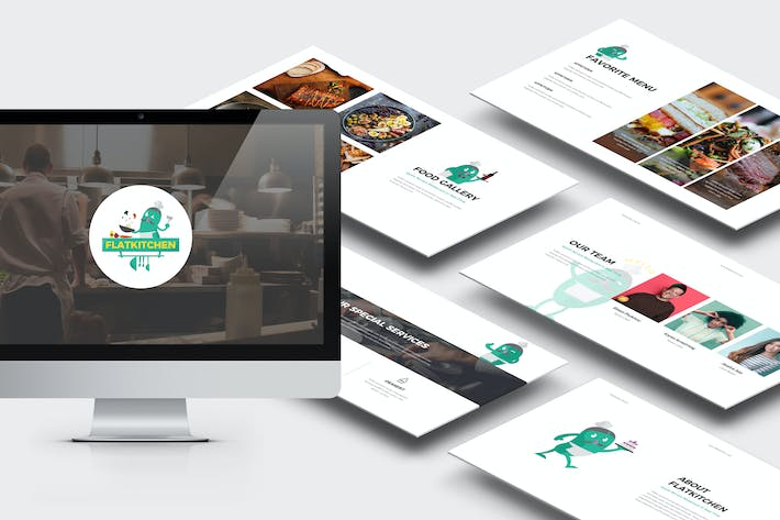Thumbnail for Flatkitchen : Food and Restaurant Google Slides
