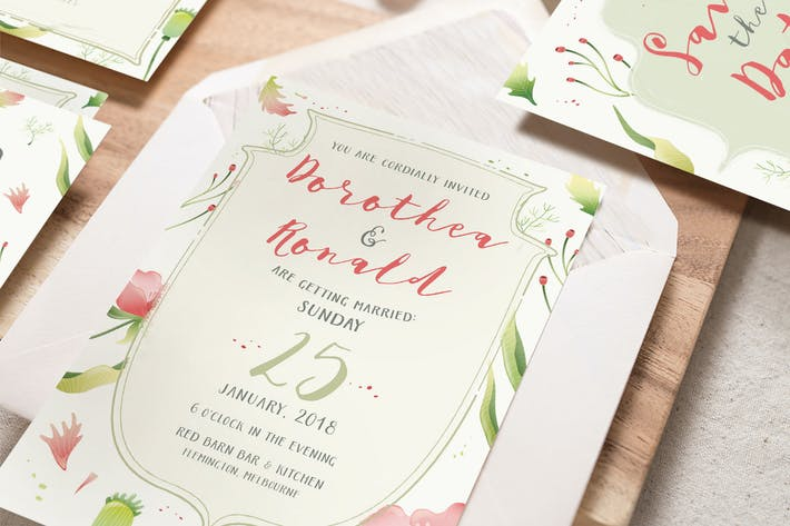 Thumbnail for Foliage Illustration Wedding Package