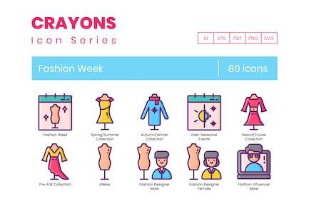 80 Fashion Week Icons - Crayon Series