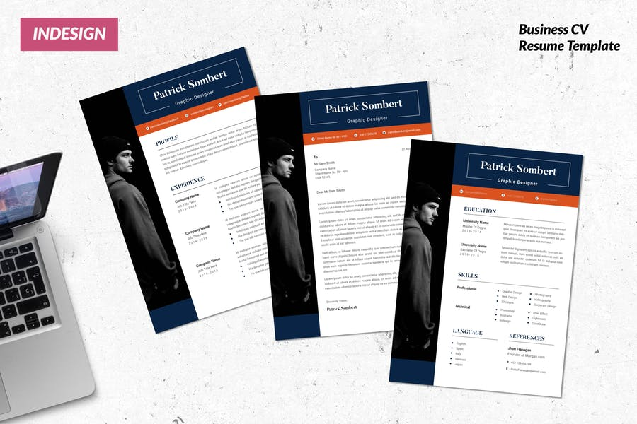 Graphic Designer CV Resume Template Vol. 56