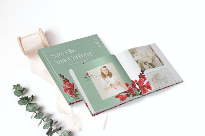 Thumbnail for Vintage Floral Wedding Photobook/Album