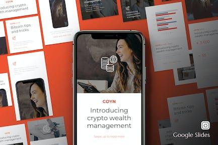 Coyn - Bitcoin Instagram Kit Google Slides