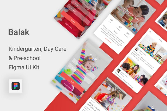 Thumbnail for Balak - Kindergarten & Pre-school Figma UI Kit