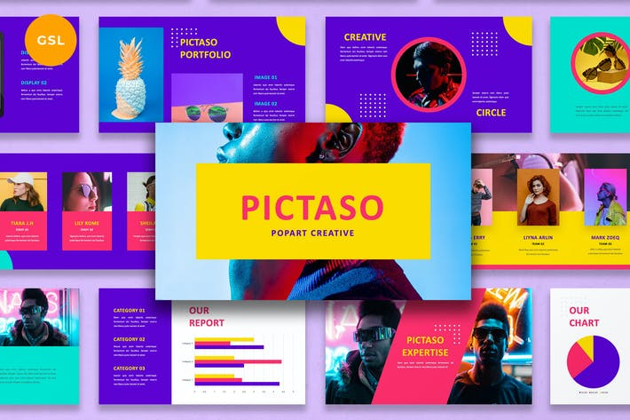 Thumbnail for Pictaso - Popart Creative Google Slides