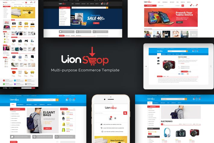 Thumbnail for Lion - Responsive Magento Thème