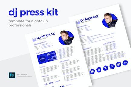 DJ Press Kit / Resume / Rider Template