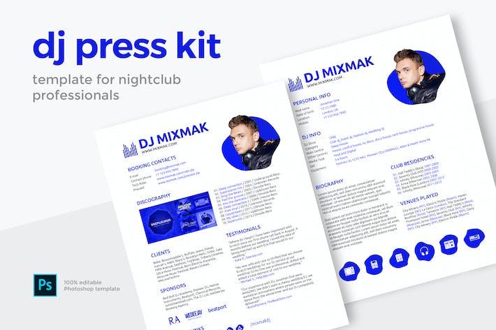 Thumbnail for DJ Press Kit / Resume / Rider Template
