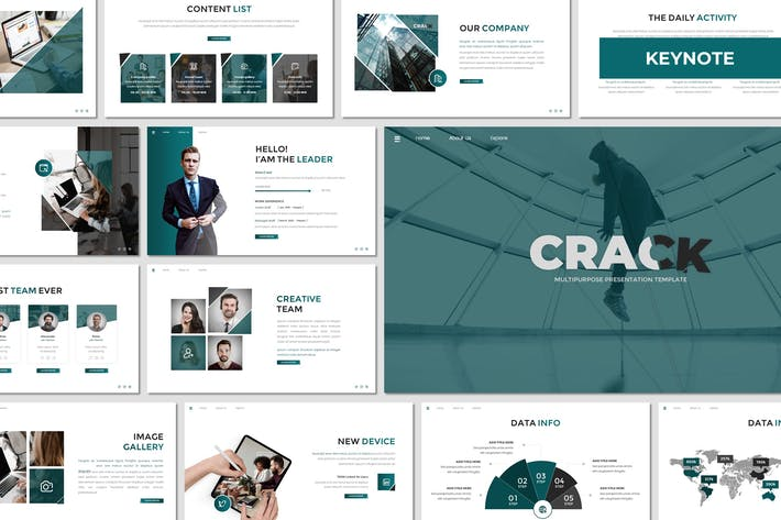 Thumbnail for Crack - Business Keynote Template