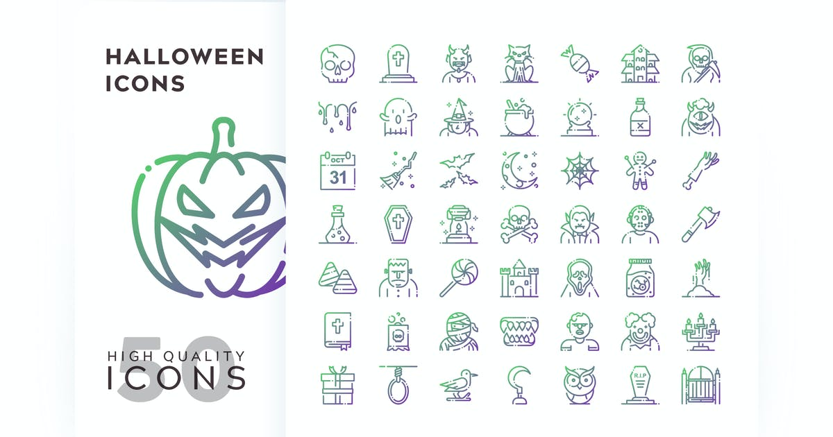 Download HALLOWEEN OUTLINE GRADIENT by subqistd
