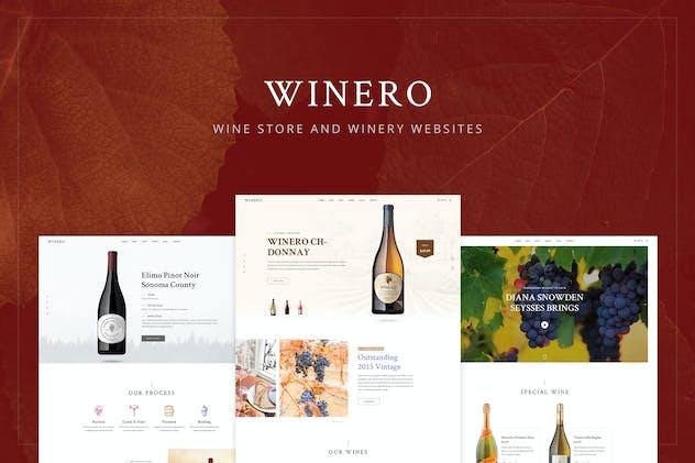 Winero - Wine, Winery PSD Template