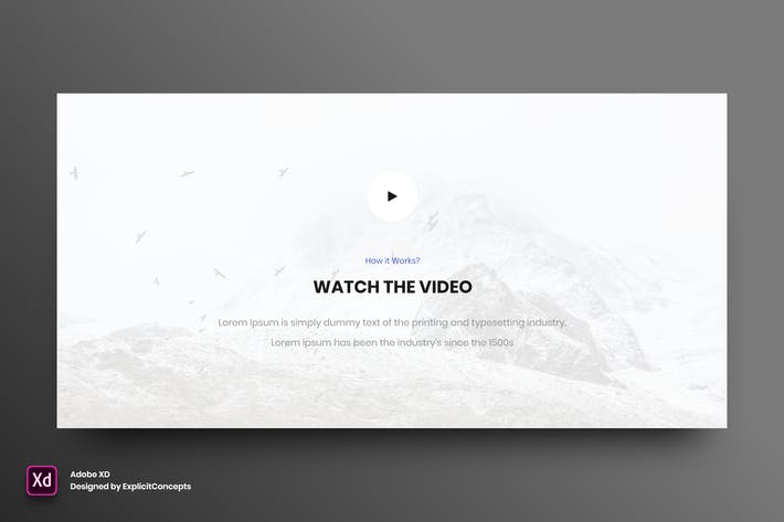 Thumbnail for Video Section Vol 03 - Adobe XD