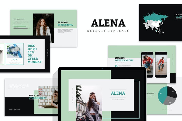 Thumbnail for Alena : Minimal Style Keynote Template