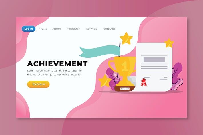Thumbnail for Achievement - XD PSD AI Landing Page