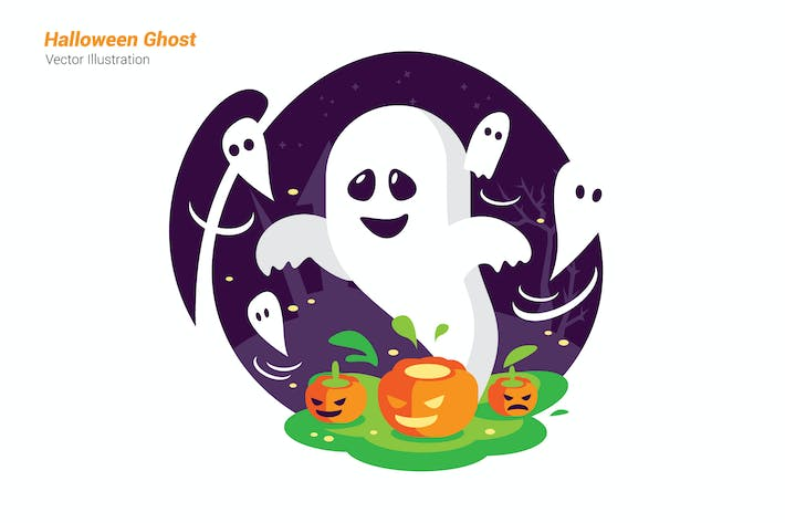 Thumbnail for Halloween Ghost - Vector Illustration