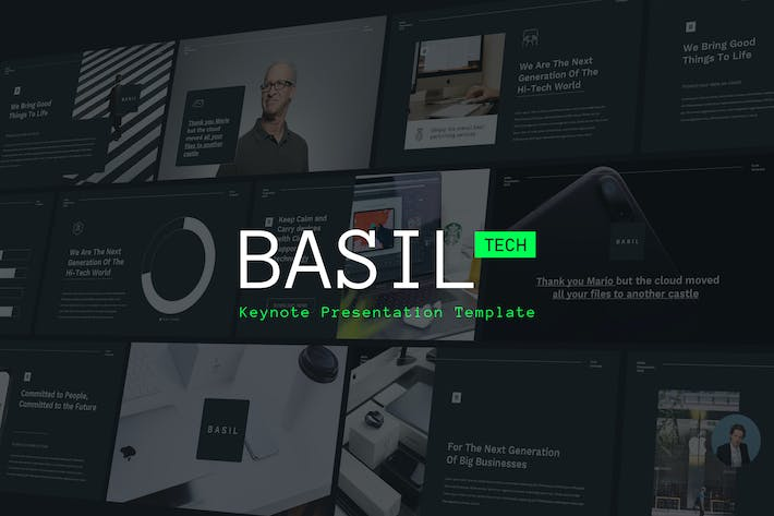 Cover Image For BASIL - Technology Theme Keynote Template