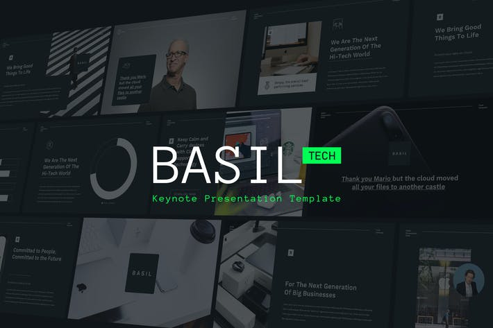 Thumbnail for BASIL - Technology Theme Keynote Template