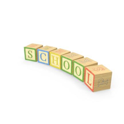 Escuela de bloques del alfabeto