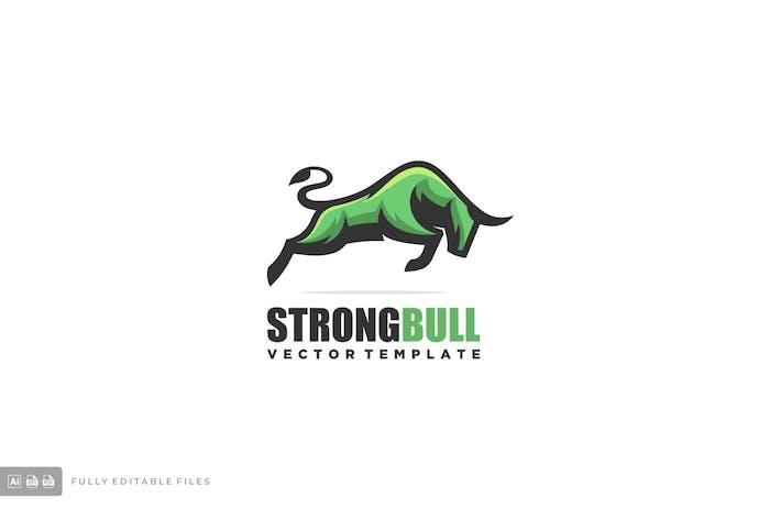 Thumbnail for Bull Mascot Logo Template