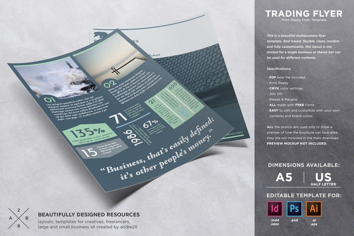 Thumbnail for Trading Flyer Template