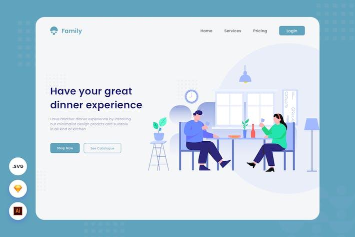 Expérience de dîner - En-tête de site Web