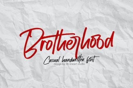 Brotherhood - Handwritting
