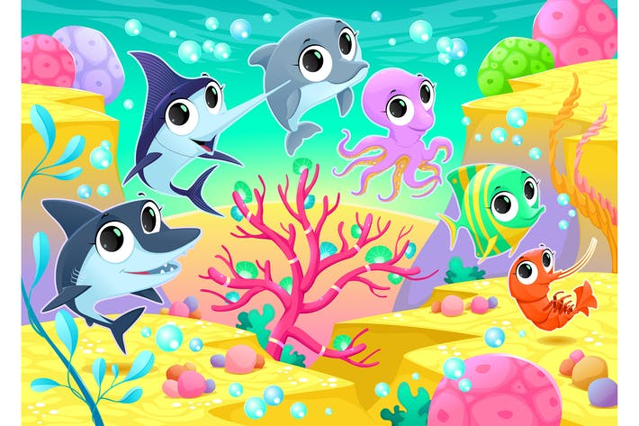 Thumbnail for Marine Animals Under the Sea