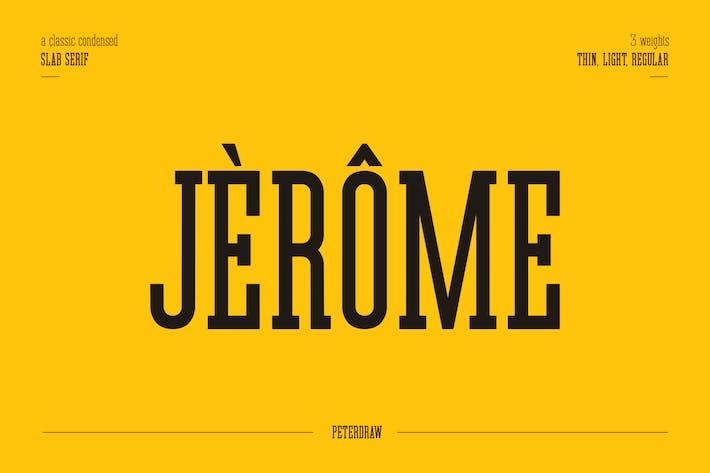 Thumbnail for Jérôme - Plaque Condensée Serif