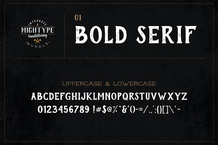 Thumbnail for Mightype 01 - Bold Con serifa