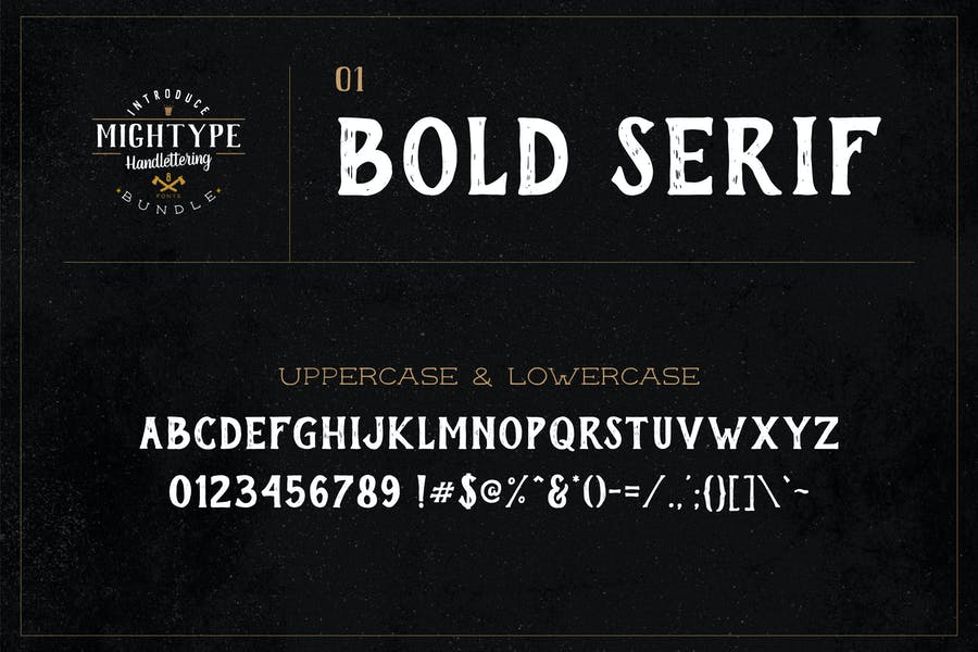 Mightype 01 - Bold Serif