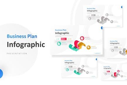 3D Arrows Unique Pie Chart Infographic Template