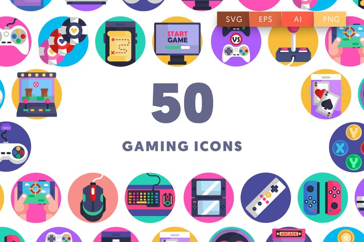 Thumbnail for 50 Gaming Icons