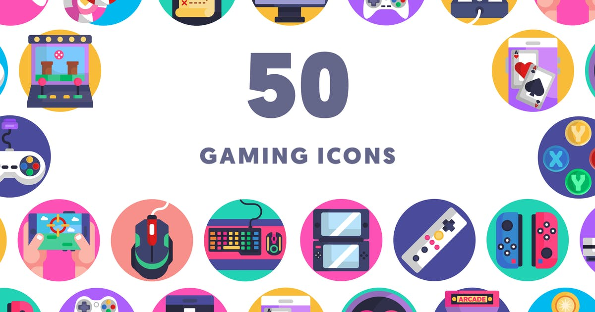 Download 50 Gaming Icons by thedighital