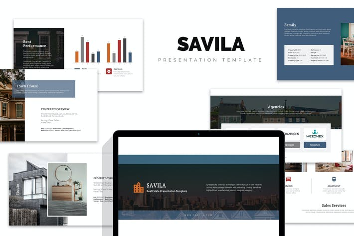 Thumbnail for Savila: Property & Real Estate Agent Google Slides