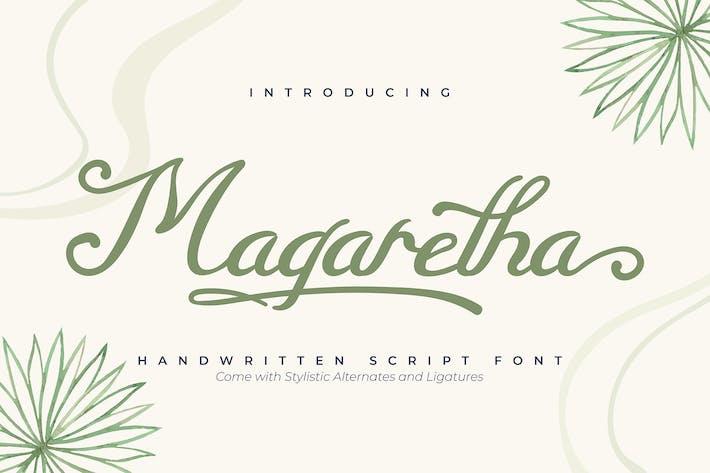 Thumbnail for Magaretha   Fuente de script manuscrita