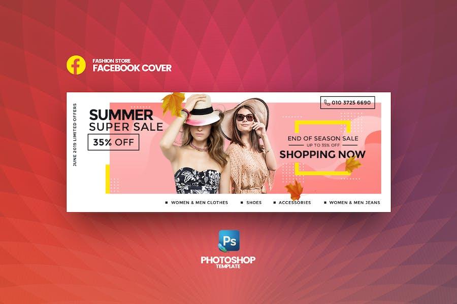 Super Sale Fashion Store Facebook Cover Template