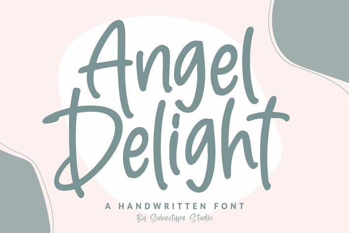 Fonte manuscrita Angel Delight