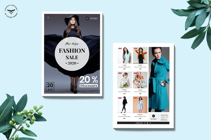 Thumbnail for Online Shopping Brochure Template