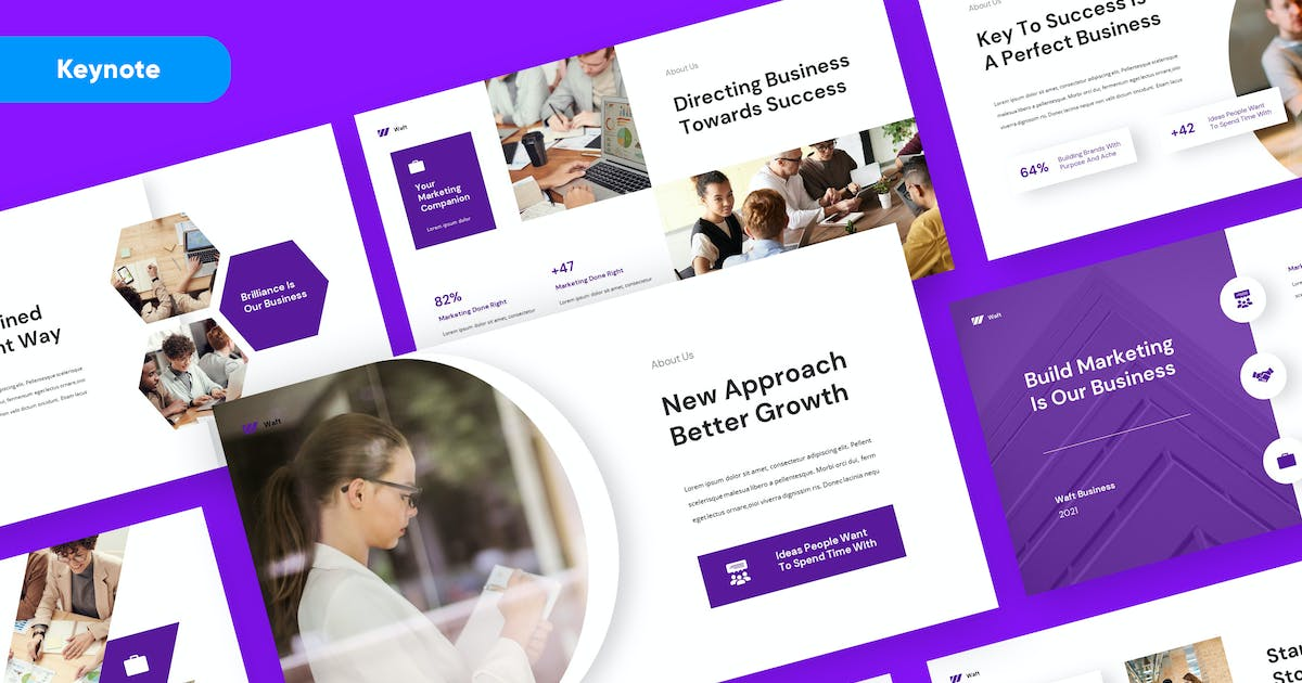Download Business Marketing Keynote Template by rgbryand
