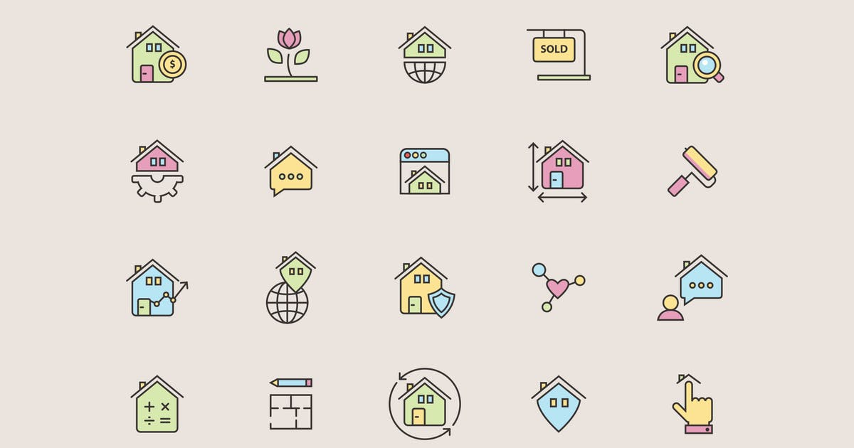 Download Real Estate Color Icons by Jumsoft